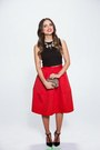 Red-red-express-skirt