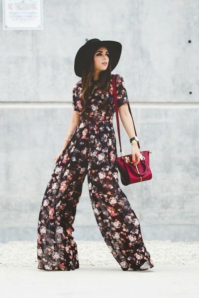 black H&M hat - brick red Danielle Nicole bag - black Shoppiin jumper