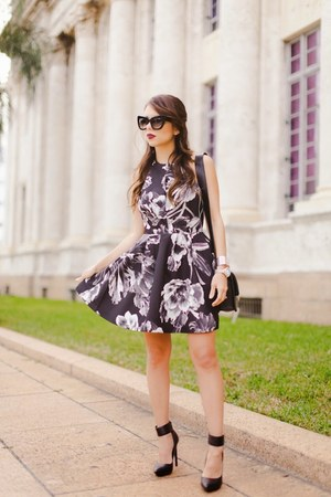 silver backless Dailylook dress - black Shoe Cult shoes