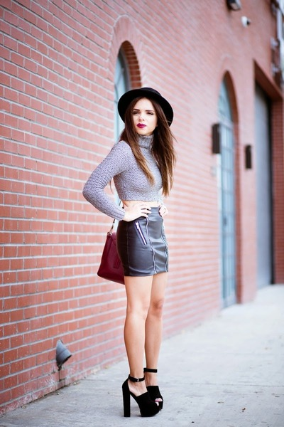 black Nasty Gal shoes - ruby red 31 Phillip Lim purse - silver Nasty Gal top