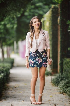 navy Shoppiin skirt - light pink baby pink Shoppiin jacket