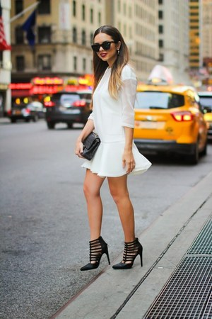 white Style Mafia dress - black Prima Donna shoes - black Chanel bag