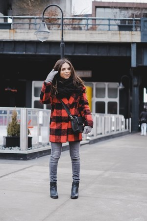 black ankle boots sperry boots - ruby red Shoppiin coat