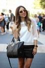 Ivory-melao-shirt-black-danielle-nicole-bag