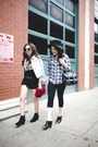 Black-h-m-boots-light-blue-forever-21-jacket-black-danielle-nicole-bag