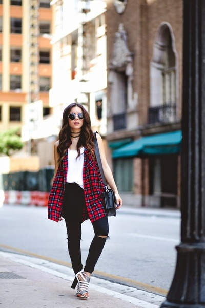 black Forever 21 sunglasses - black asos jeans - black Marc by Marc Jacobs bag