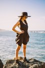 Black-pink-and-pepper-boots-black-romwe-dress-black-h-m-hat