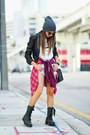 Black-dr-martens-boots-heather-gray-faux-leather-h-m-jacket