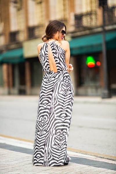 black H&M dress - silver Target bag - black zeroUV sunglasses