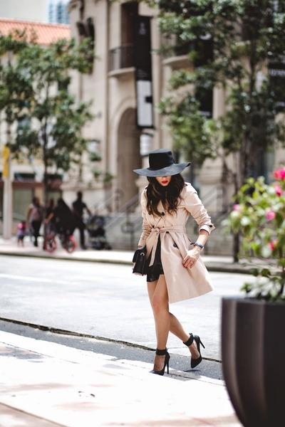 black Nasty Gal shoes - tan Gap jacket - black Marc by Marc Jacobs bag