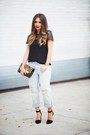 Black-nine-west-shoes-light-blue-boyfriend-jeans-gap-jeans