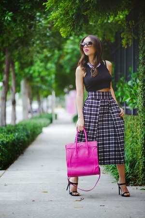 black Dailylook shoes - hot pink Dailylook bag - black furor moda top