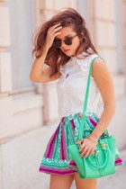 pink Style Mafia skirt - turquoise blue Danielle Nicole bag