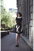 black NUI by Vickie Joseph dress - black Zara sandals