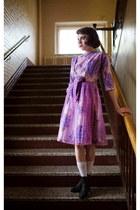 amethyst 50s lace vintage dress