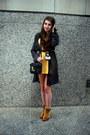 Bronze-faux-fur-vintage-boots-light-yellow-h-m-dress-black-vintage-bag