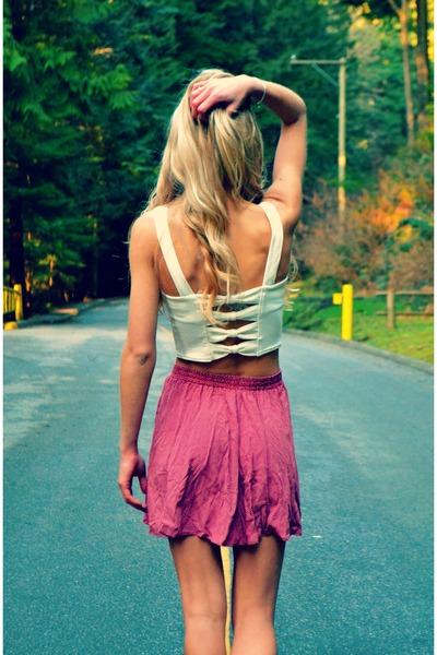 Sirens top - vintage skirt