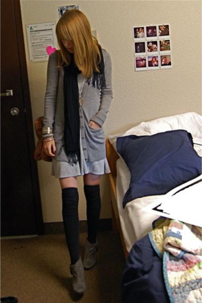 Old Navy dress - Club Monaco sweater - - HUE socks