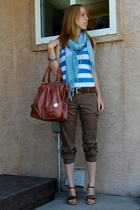 Victorias Secret pants - Club Monaco top - Aldo purse - thrifted scarf