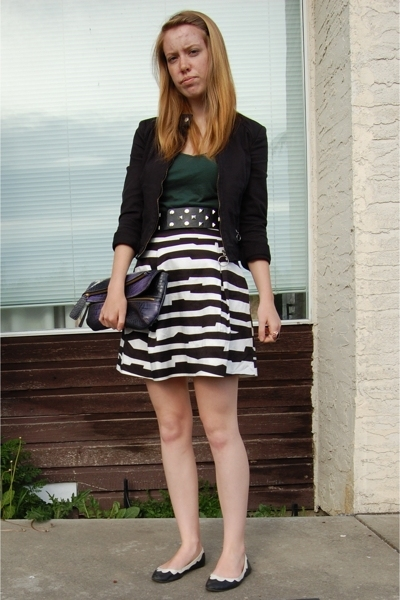 RW & CO jacket - Club Monaco skirt - Old Navy shirt - Urban Outfitters shoes - A