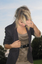 Zara blazer - Zara vest - Secondhand belt