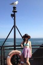 Topshop hat - Prada sunglasses - mint bikini asos swimwear