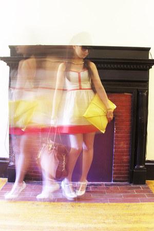 Chloe wedges - Urban Outfitters dress - Michael Kors bag - asos bag