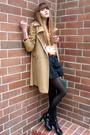 Beige-vintage-coat-black-via-spiga-shoes