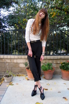 black Dolce & Gabbana pants - black Alexander Wang shoes - white vintage top