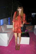 Whitley Kros dress - Burberry shoes - vintage purse