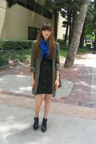 What Goes Around Comes Around scarf - Catheirne Malandrino jacket - Theory dress