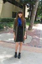 What Goes Around Comes Around scarf - Catheirne Malandrino jacket - Theory dress