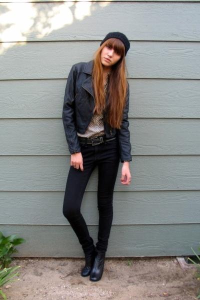 Forever 21 jacket - vintage shirt - H&M hat - vintage belt - mar&cooperative jea