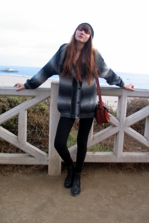 ecote sweater - H&amp;M hat - Forever 21 leggings - vintage vest - Cole Haan boots