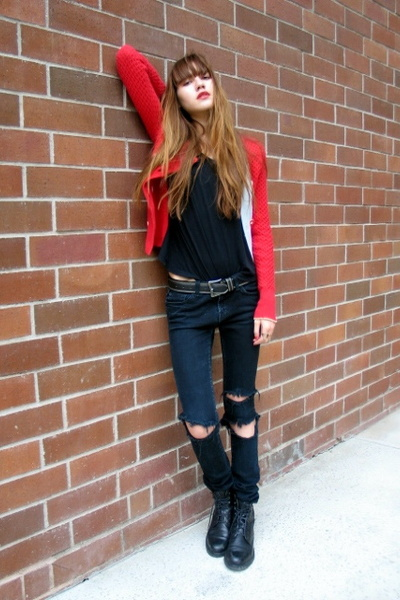 sparrow sweater - Whitley Kros t-shirt - J Brand jeans - Cole Haan boots