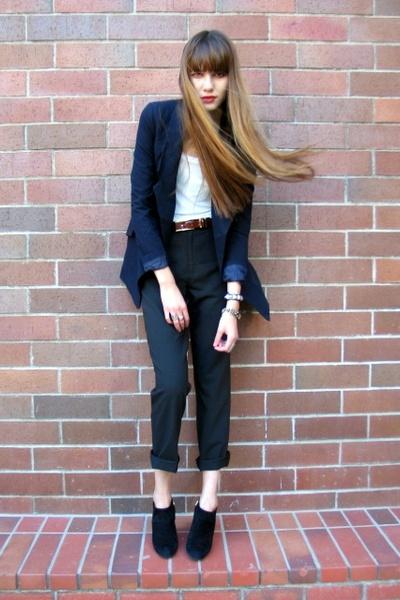 Forever 21 blazer - Forever 21 top - Dolce & Gabbana pants - vintage belt - Ball