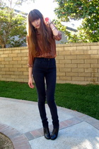 vintage top - Tigerlily jeans - stefane kelian shoes
