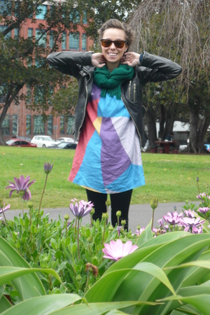 scarf - jacket