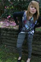 Miss Shop jacket - supre t-shirt - Miss Shop leggings - Just jeans shoes