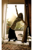 white Betsey Johnson dress - black Pandora dress