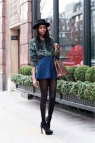American Apparel skirt - Prada bag - Zara heels - asos jumper
