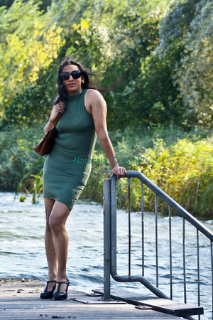dark khaki khakipolyester Boohoo dress