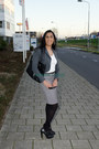Cotton-h-m-skirt-leather-paula-soler-heels