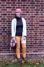 Handmade-hat-asos-boots-vintage-jeans-vintage-blazer-dorothy-perkins-bag