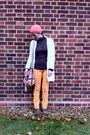 Asos-boots-vintage-jeans-handmade-hat-vintage-blazer-dorothy-perkins-bag