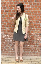 dark khaki similar in here Primark dress - brooch Fairytale Flower accessories