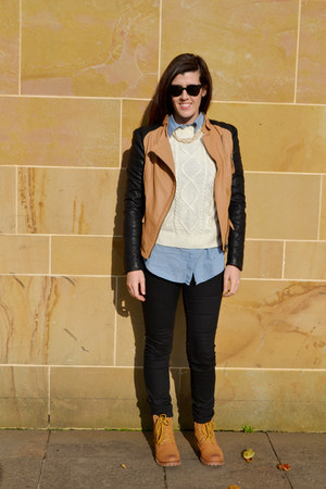 gold Forever 21 boots - black Forever 21 jeans - gold romwe jacket