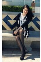 black H&M skirt - white H&M shirt