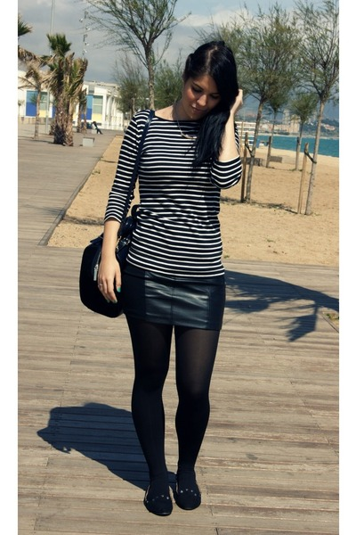 black Zara flats