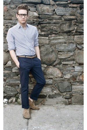 Clarks boots - Martin & Osa shirt - H&M pants